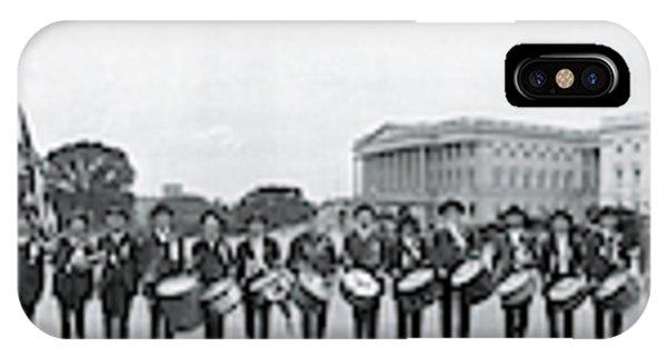 Capitol Building iPhone Case - Civil War Musicians Washington Dc by Fred Schutz Collection