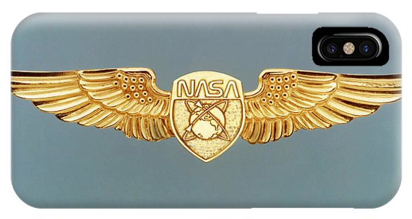 Spaceflight iPhone Case - Civilian Astronaut Wings by Nasa/science Photo Library