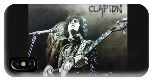 Neon iPhone Case - Clapton by Christian Chapman Art