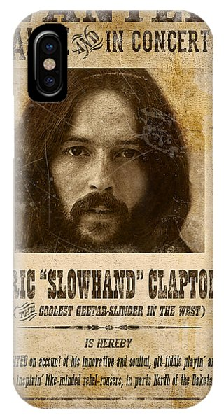Eric Clapton iPhone Case - Clapton Wanted Poster by Gary Bodnar