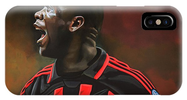 Brazil iPhone X Case - Clarence Seedorf by Paul Meijering
