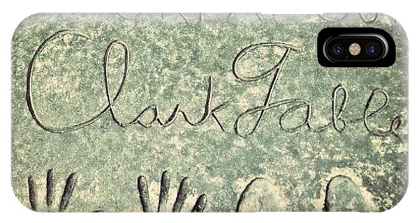 Movie iPhone Case - Clark Gable by Jill Battaglia