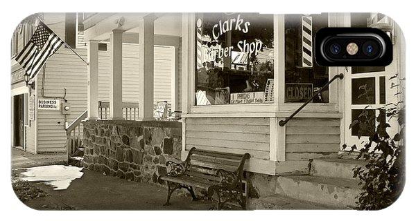 Clarks Barber Shop IPhone Case
