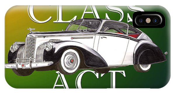 Rare iPhone Case - Class Act 1941 Packard Custom Coupe by Jack Pumphrey