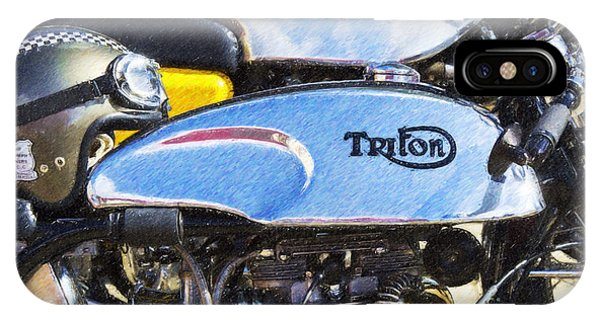 Coloured Pencil iPhone Case - Classic Cafe Racers by Tim Gainey