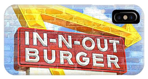 Menu iPhone Case - Classic Cali Burger 2.5 by Stephen Stookey