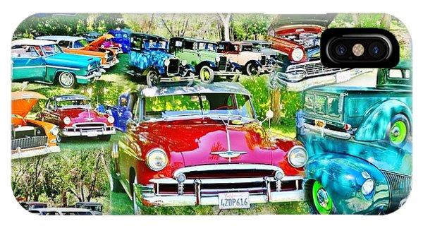Classic Car Collage IPhone Case