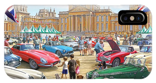 Palace iPhone Case - Classic Car Show At Blenheim 2015 by MGL Meiklejohn Graphics Licensing