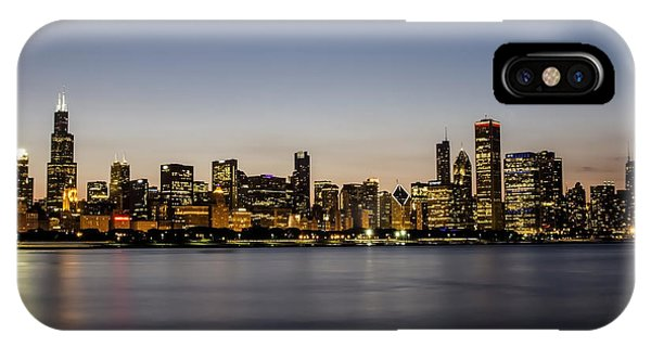 Classic Chicago Skyline At Dusk IPhone Case
