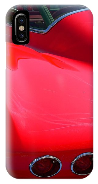 IPhone Case featuring the photograph Classic Corvette Art Lines by Jeff Lowe