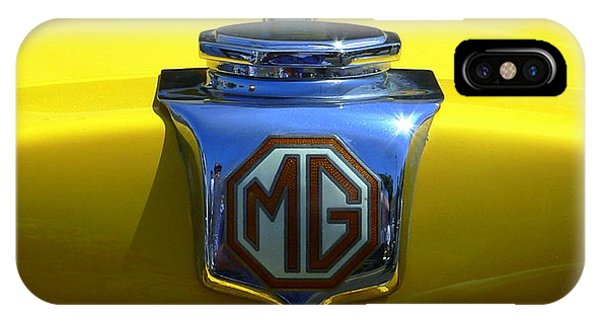 IPhone Case featuring the photograph Classic Mg Grill Yellow by Jeff Lowe
