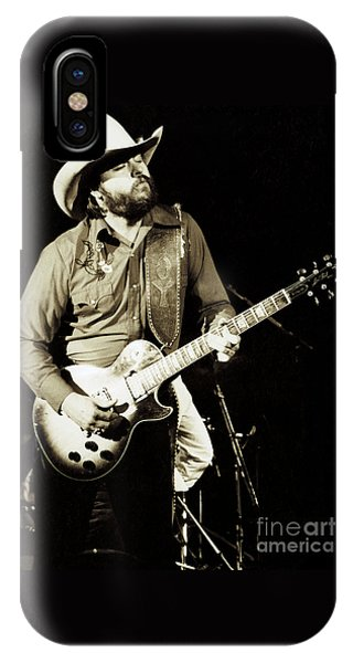 Classic Toy Caldwell Of The Marshall Tucker Band At The Cow Palace-new Years Concert  IPhone Case