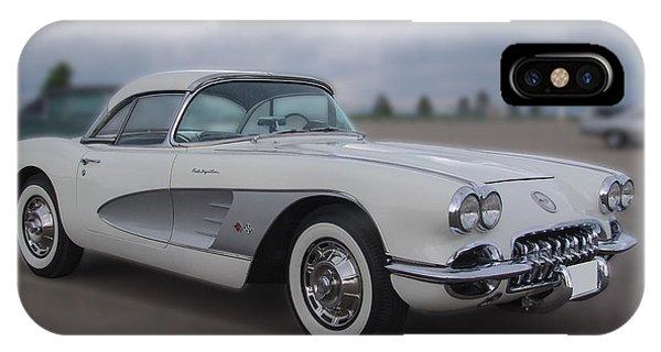 Classic White Corvette IPhone Case