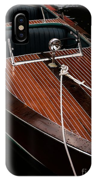 Powerboat iPhone Case - Classic Wooden Power Boat by Edward Fielding