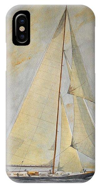 Ship iPhone Case - Classic Yacht by Juan  Bosco
