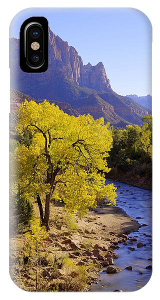 Creek iPhone Case - Classic Zion by Chad Dutson