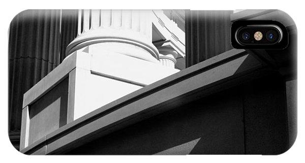 Classical Architectural Columns Black White IPhone Case