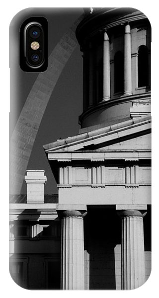 Classical Courthouse Arch Black White IPhone Case