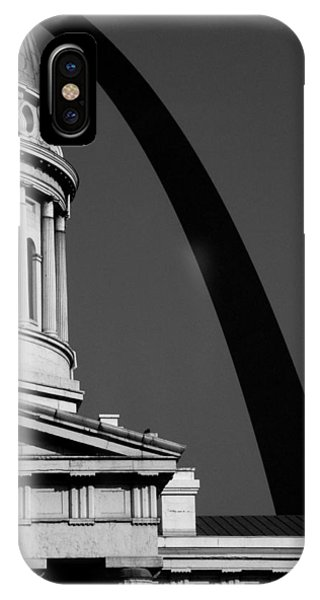 Classical Dome Arch Silhouette Black White IPhone Case