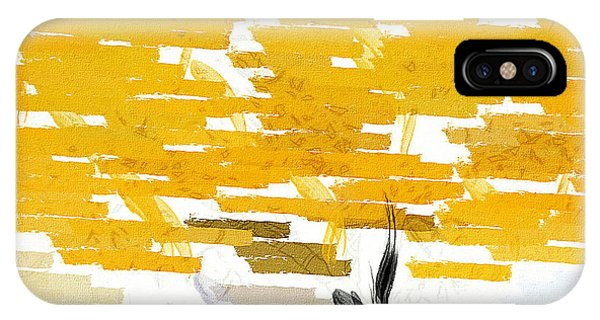 Classy Yellow Tree IPhone Case