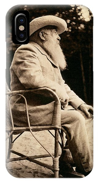 French Artist iPhone Case - Claude Monet 1840-1926 Bw Photo by French Photographer