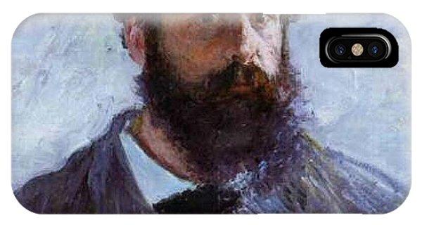 Claude Monet Self Portrait Phone Case by Claude Monet - L Brown
