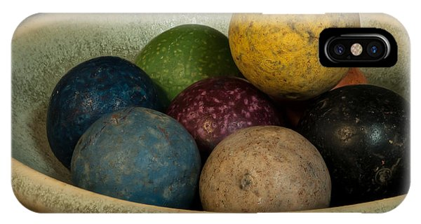 Clay Marbles In Bowl IPhone Case