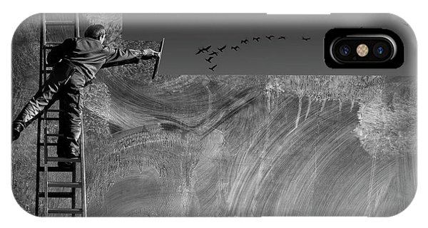 Reach iPhone Case - Cleaning The Sky by Ekkachai Khemkum