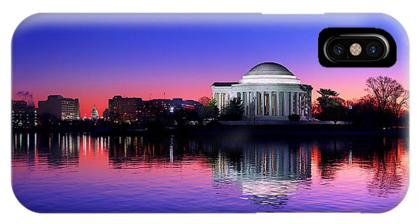 Clear Blue Morning At The Jefferson Memorial IPhone Case
