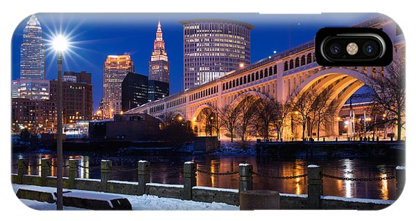 Clear Sky Cleveland Winter IPhone Case