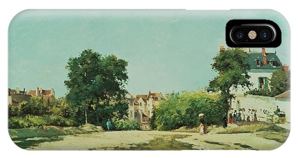 Neighborhood iPhone Case - Clearing Of The Old Cemetery In Pontoise by Camille Pissarro