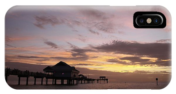 Clearwater Beach Sunset Phone Case by Lori  Burrows