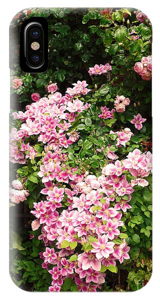 Clematis And Roses IPhone Case