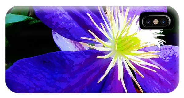 Clematis In Watercolor IPhone Case