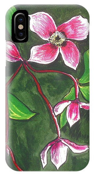 iPhone Case - Clematis Montana Rubins by Kathy Spall