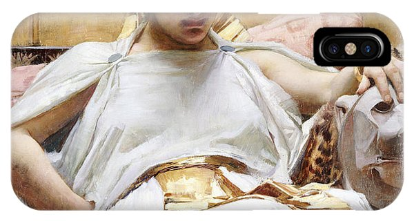 Pre-modern iPhone Case - Cleopatra, C.1887 Oil On Canvas by John William Waterhouse