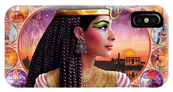 Pharaoh iPhone Case - Cleopatra Variant 3 by MGL Meiklejohn Graphics Licensing