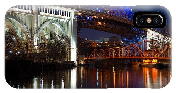 Cleveland Bridge Reflections IPhone Case