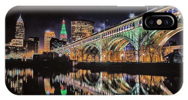 Cleveland Christmas Bridge IPhone Case