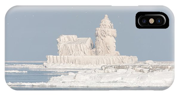 Cleveland Harbor West Pierhead Light II IPhone Case