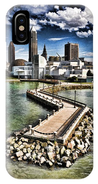 IPhone Case featuring the photograph Cleveland Inner Harbor - Cleveland Ohio - 1 by Mark Madere