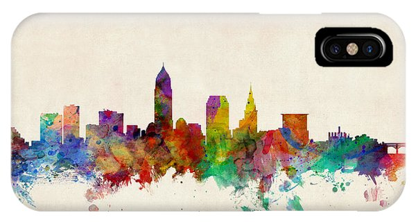 United States iPhone Case - Cleveland Ohio Skyline by Michael Tompsett