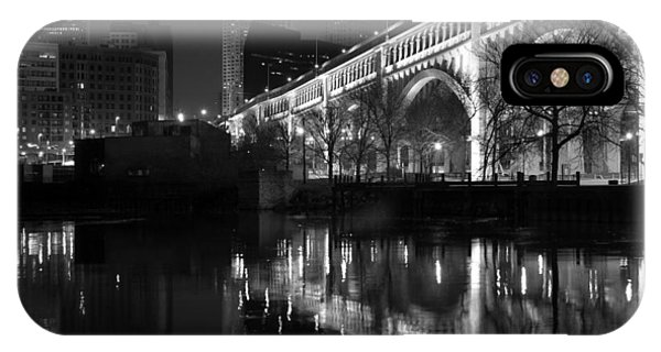 Cleveland Reflections In Black And White Phone Case by Clint Buhler