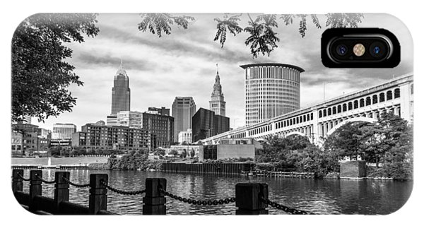 Cleveland River Cityscape IPhone Case