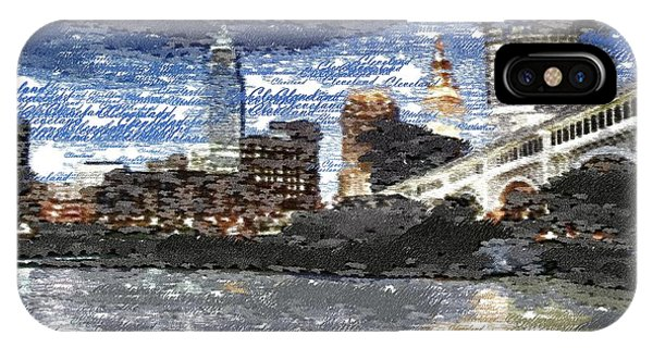 Cleveland Skyline - Typography IPhone Case