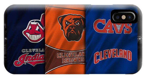 Basketball iPhone Case - Cleveland Sports Teams by Joe Hamilton
