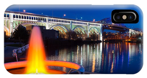 Cleveland Veterans Bridge Fountain IPhone Case