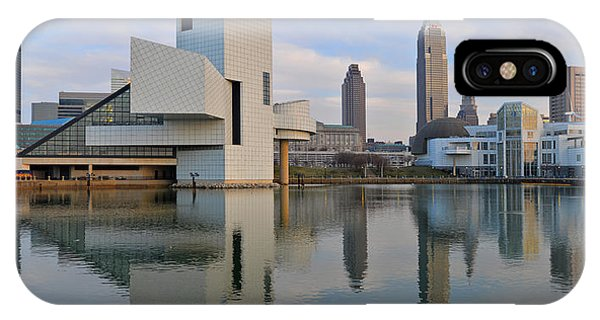 Cleveland Waterfront Daytime Panorama IPhone Case