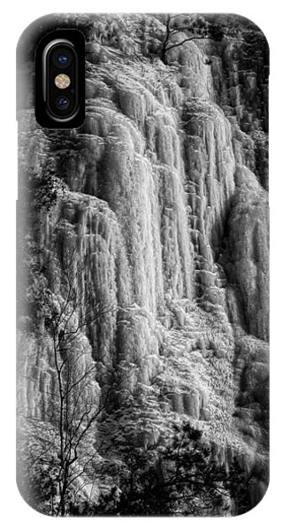 Cliff Ice In Black And White IPhone Case