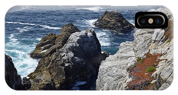 Cliffs And Coastline At California's Point Lobos State Natural Reserve IPhone Case